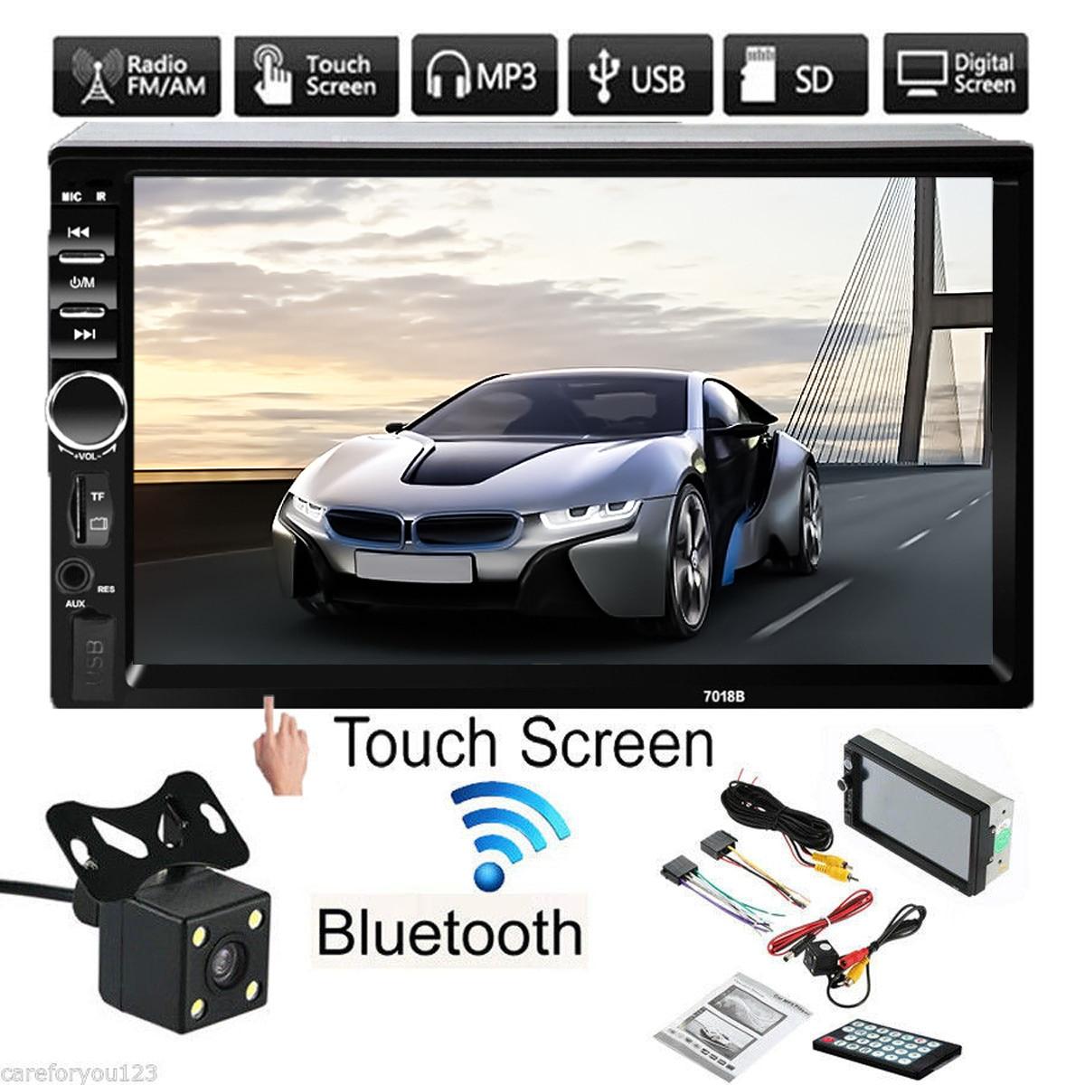 Lecteur radio de voiture à écran tactile LCD 7