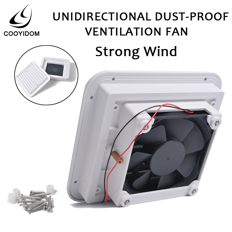 Dust-proof Ventilation Fan Caravan Side Exhaust Air Outlet Vent For RV Motorhome Trailer Boat Yacht Caravan Camper  Caranvan
