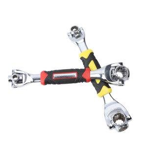 Image 5 - Tiger ประแจ 48 in 1 เครื่องมือ SOCKET ทำงานร่วมกับ Spline สลัก Torx 360 องศา 6 Point Universal เฟอร์นิเจอร์รถซ่อม 25 ซม.เท่านั้นสีแดง