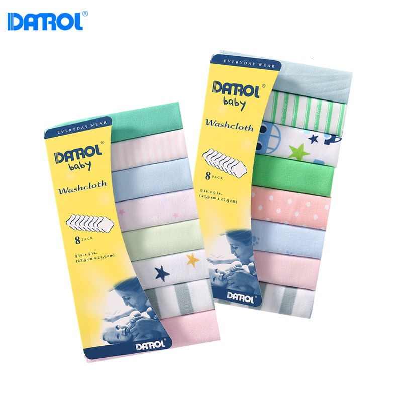 8pcs/lot Baby Cotton Small Square Towel Feeding Towel Wipe Sweat Towel Handkerchief Baby Towel Baby Handkerchief