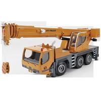 Wholesale alloy engineering vehicle model,1:50 wheeled crane alloy car model,engineering crane toy,free shipping