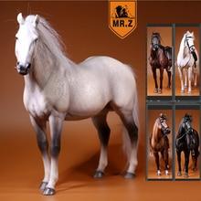 1/6 חיילי דמות סוס דגם סוס המלחמה גבוהה 33cm מתנת יום הולדת שרף דגם צעצוע