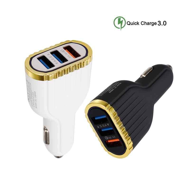 3.5A araba 3 USB şarj aleti QC 3.0 hızlı şarj çıkışı cep telefonu araba kamyon araba aksesuarları iç adaptörü için cep telefonu IPad