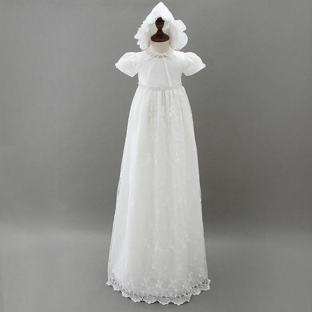 HAPPYPLUS ivoire robe de princesse bébé fille robes de baptême parole longueur longue robe pour bébé douche robe de baptême pour bébé filles