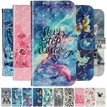 Woman Phone Case Girl Wallet For Samsung A51 A71 A20 A30 A50 A70 Galaxy S20 Ultra Plus Cute Pattern Flip Leather Cover Bag O01G(China)