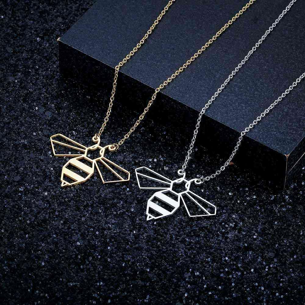 Unikalne zwierząt Bee naszyjnik LaVixMia włochy projekt 100% naszyjniki ze stali nierdzewnej dla kobiet Super moda biżuteria specjalny prezent