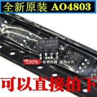10 pçs/lote novo ao4803 ao4803a smd sop-8 chip de potência