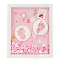 DIY Baby Hand print Kit Baby Items For Newborns Baby Gift Kit Footprint Non Toxic Clay Casting Kit Baby Keepsake Souvenirs