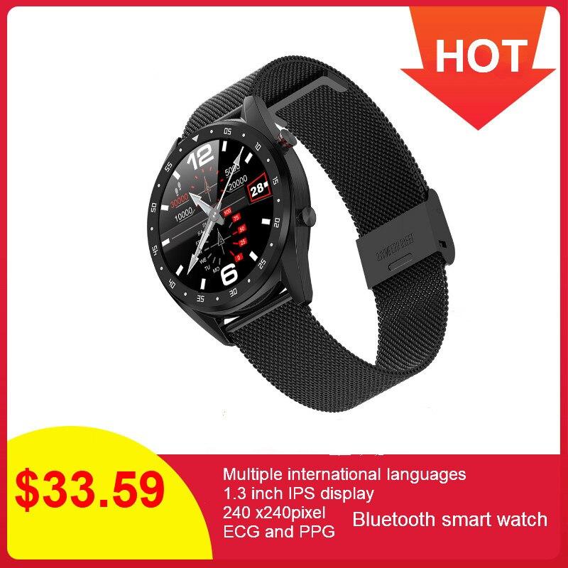 696 Relatório VFC K7 L7 BTcall SmartWatch Relógio Inteligente À Prova D' Água Esportes Relógio Pulseira De Fitness Heart Rate Monitor de Pressão Arterial