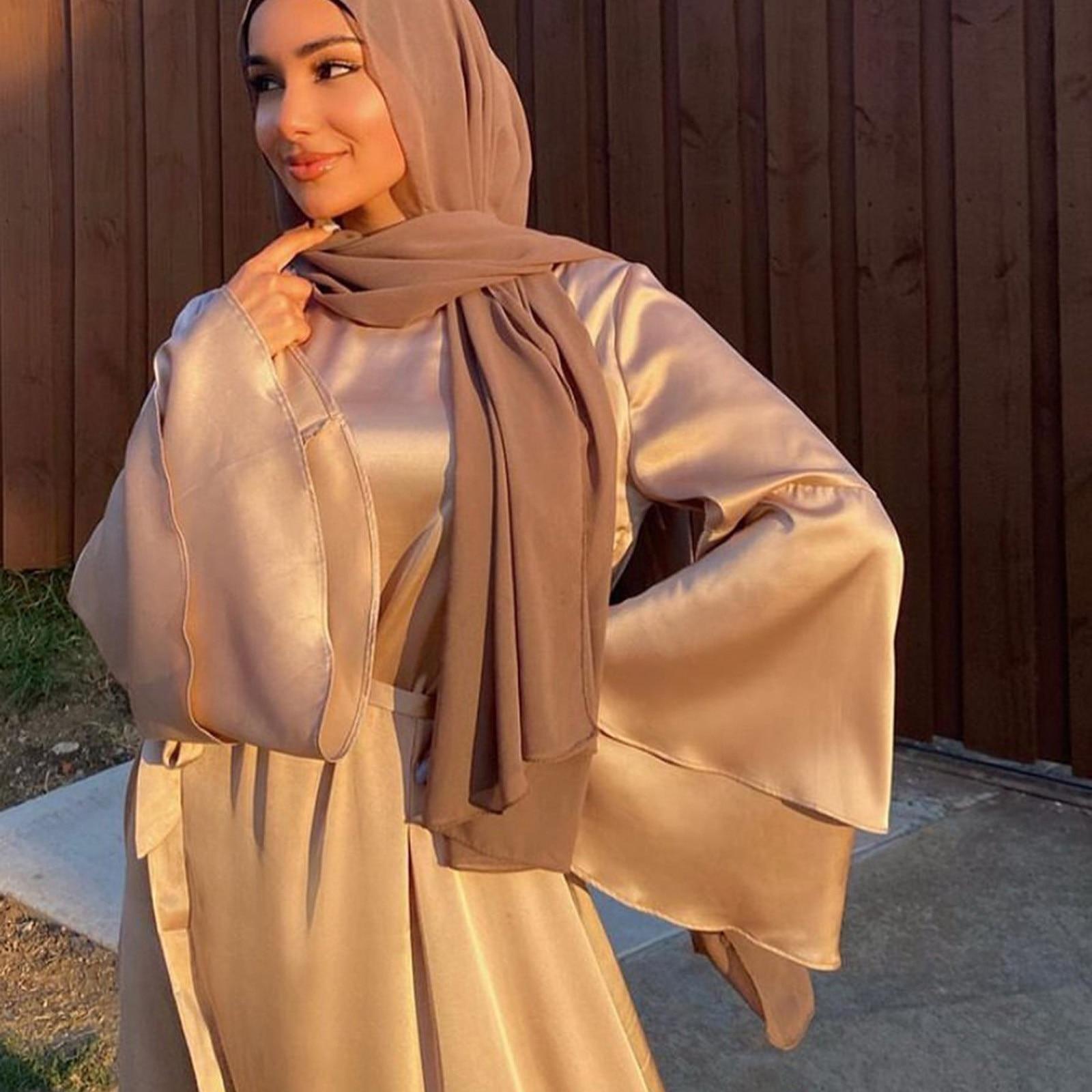 40 # Satin Bandage Maxi Kleid 2021 Hohe Split Elegante Einfarbig Vintage Robe Volle Hülse Knöchel Länge Kleid Oversize robe Femme