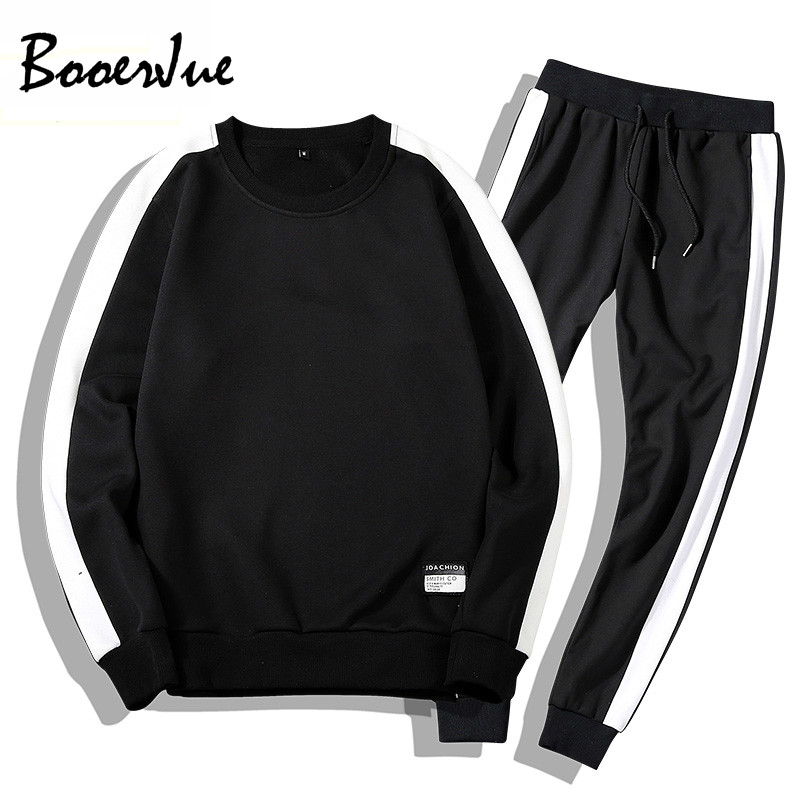 Tracksuits Men Sportsuit Sets Sweatshirts Set Clothing+Pants Hoodies Plus Size Moleton Masculino Sweatsuit Ropa Para Hombre