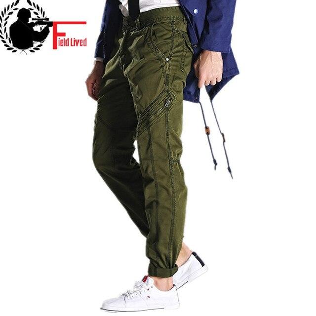アーミーグリーン男性のミリタリーパンツスリムフィットワークカーゴパンツ戦術的なカジュアルなストレート長ズボンカーゴパンツ男性とポケット