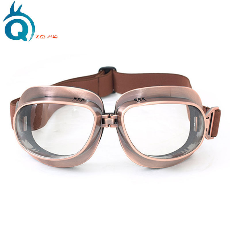 Motorcycle Goggles Outdoor Windproof Sand Bronze Frame Cool Classic Locomotive Glasses For Riding Harley Mask Goggles