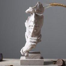 Statue nordique abstraite le Silence est doré, Sculpture d'art moderne en résine, décoration de la maison, de bureau, pas d'écoute, pas de Look