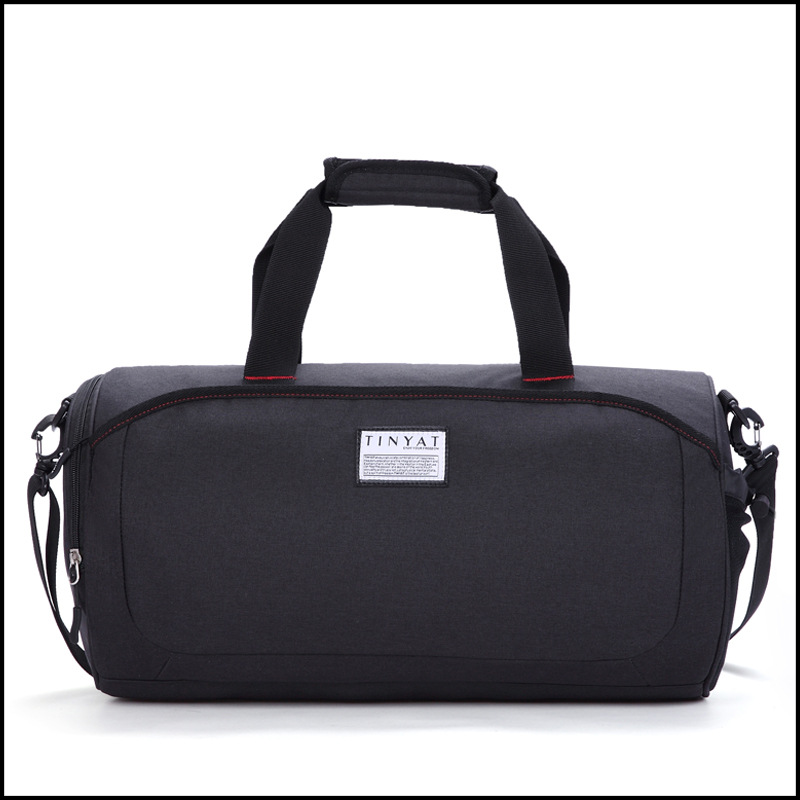 Men And Women Sports Gym Bag Cylinder Wet And Dry Separation Yoga Bag Hand Shoulder Multi-functional Short Trip Travel Bag