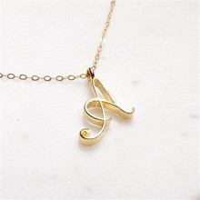 26 Initial Letter Gold Color Pendant Necklace Fashion Alloy Necklace Women Exquisite Sweet Lady OL Style Valentine's Day Gifts comtex syl149042 lady watch fashion classic gold color sweet ladylike