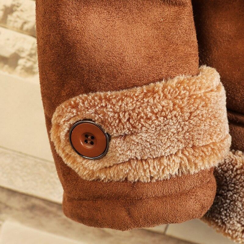 Меховая цельная куртка мужская теплая Модная контрастная Повседневная куртка с меховым воротником Мужская Уличная свободная Хлопковая му... - 5