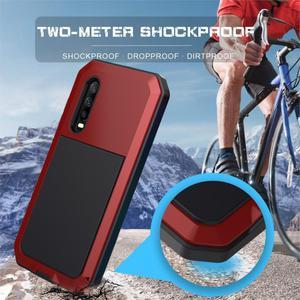 Image 3 - Protection robuste Doom armure métal aluminium étui de téléphone pour Huawei Mate 20 Pro P30 Pro étuis antichoc housse anti poussière