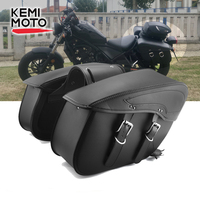 Motorcycle Saddlebag Leather Waterproof Luggage Bags For Sportster XL883 For Triumph Rocket Roadster For Kawasaki Vulcan