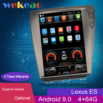 Wekeao Vertical Screen Tesla Style 12.1'' Android 9.0 Car Dvd Player For Lexus ES ES240 ES300 ES330 ES350 Auto GPS Navigation 4G image
