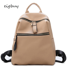 Vintage Bagpack Solid Brand Designer Black Mochila Simple Soft Leather Backpacks Female Fashion Back Pack School Bag Backpack