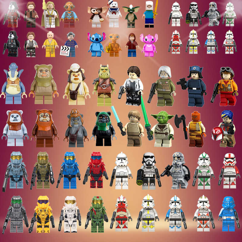 Star Wars legoed bouwstenen Bricks storm troopers Ewok Village Tan Tokkat Wicket Paploo Logray Battle van Endor Gift Speelgoed