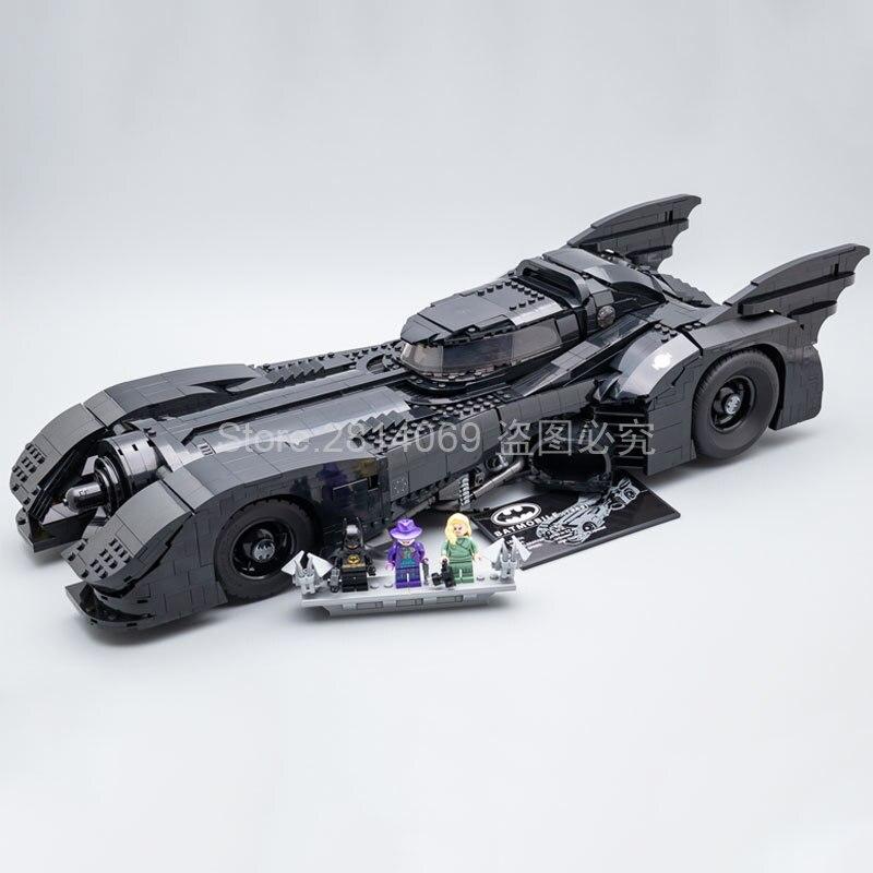 Presell 76139 batman super herói 1989 batmobile modelo 3856 peças kits de construção blocos tijolos brinquedos crianças presente compatível 59005