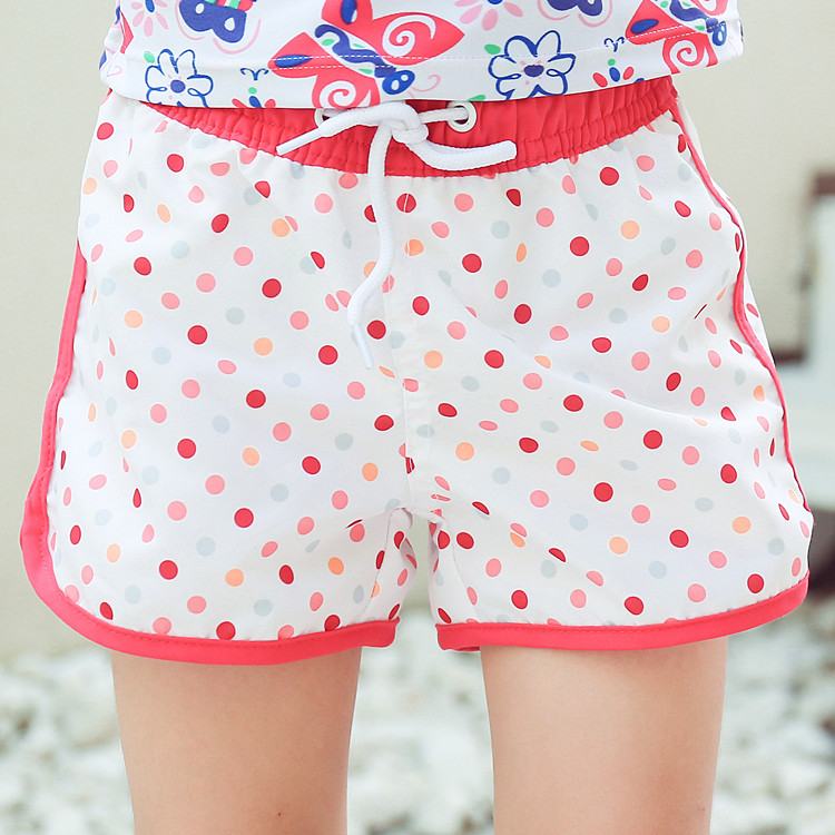 New Model Girls Beach Shorts 2-14 Y Baby Girl Swimwear Children Swimming Trunks Bathing Suit For Girl With Colorful Dots Pattern