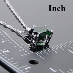 Image 5 - 925 Sterling Silver Wedding Jewelry Sets Women Earrings Bridal Green Zircon Stones Jewelry Bracelet Rings Pendant Necklace Set