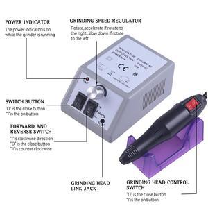 Image 2 - プロフェッショナル電気マニキュアセットプロドリルネイルファイルビットマニキュアマシン電動爪やすりセラミックネイルデコレーション