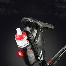 Waterproof Bicycle Bag Cycling MTB Road Bike Saddle Tail Rear Seat Repair Tool Kit Storage with Water Bottle Hold