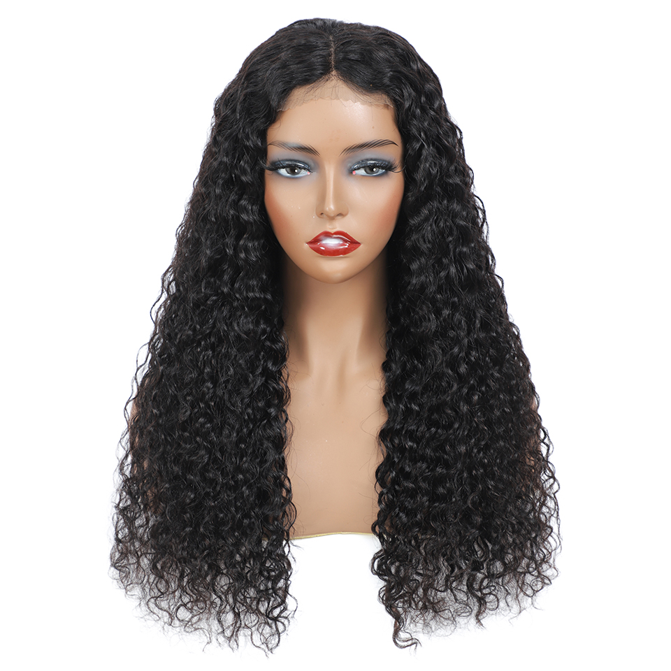 Real Women Water Wave Wig Lace Closure  Wigs Pre Plucked 30inch 4X4 Lace Closure Wig 180% Density  Wig 3