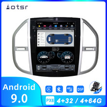 "Aotsr Tesla 12.1 ""Android 9 PX6 4G 64 Gb Auto Speler Voor Mercedes Benz Vito 2016-2019 auto Gps Navi Carplay Head Unit Dsp Stereo(China)"