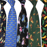 Luxury 10CM Mens Ties Golf Man Bird guitar dolphin printed Wide Neckties Hombre Gravata Ties For Men Classic Business Wedding