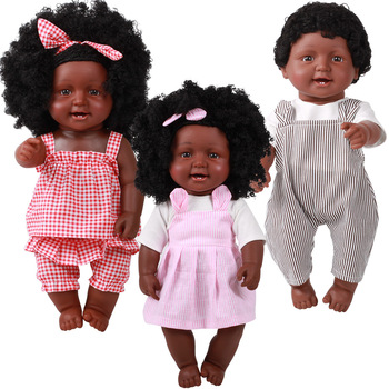 50cm Girl Baby African Black Girl Lifelike vinyl babies Dolls bath Toys For Children Girls Boys Babies Play house reborn Doll