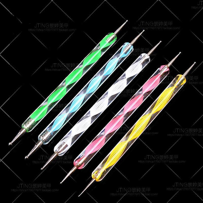 1 Uds. 2 formas de pintura de puntos de mármol bolígrafo barniz de Gel remojo de UV LED Gel esmalte de uñas Base capa No limpiar Gel de Color superior esmalte