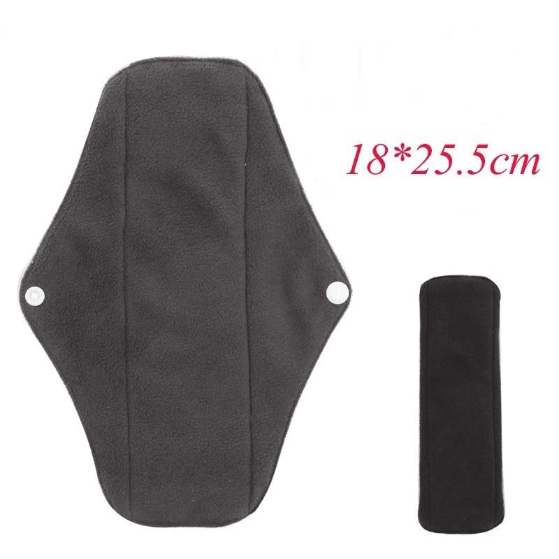Reusable Sanitary Pad Washable Sanitary Towel Cloth Menstrual Pads Women Girl Absorbent Charcoal Cloth Bamboo Menstrual Pad