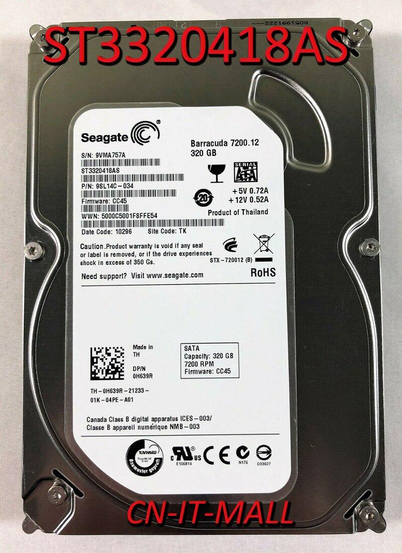 Внутренний жесткий диск Seagate BarraCuda 7200,12 ST3320418AS 320 Гб 7200 об/мин 16 Мб кэш SATA 3,0 ГБ/сек. 3,5 дюйма