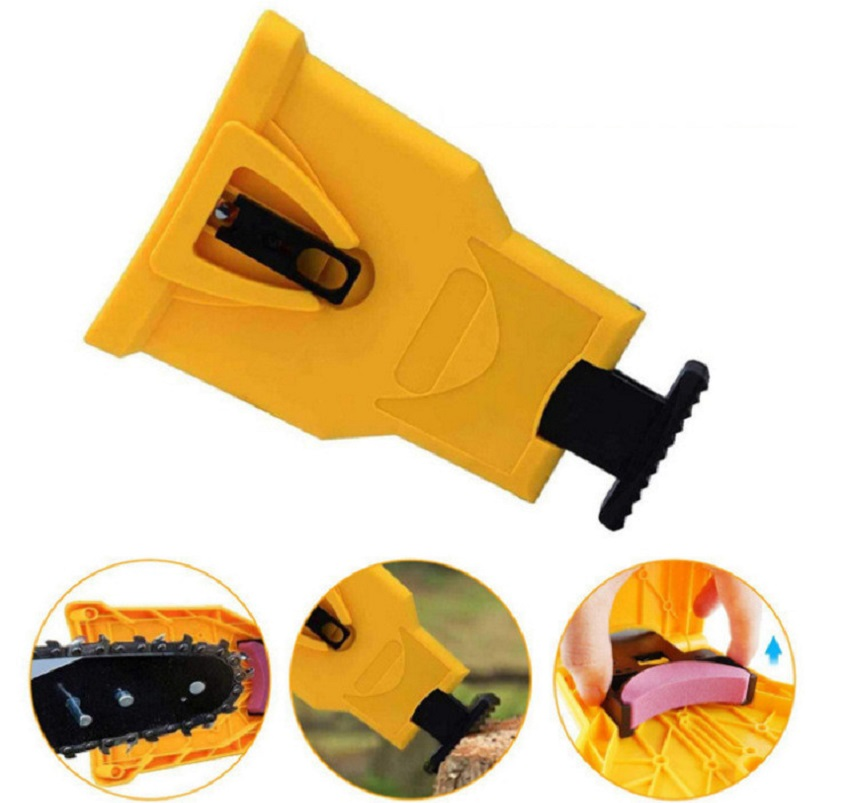 Chainsaw Chain Teeth Sharpener Portable Durable Easy Power Sharp Bar-Mount Fast Grinding Chainsaw Chain Sharpener Grinder Tool