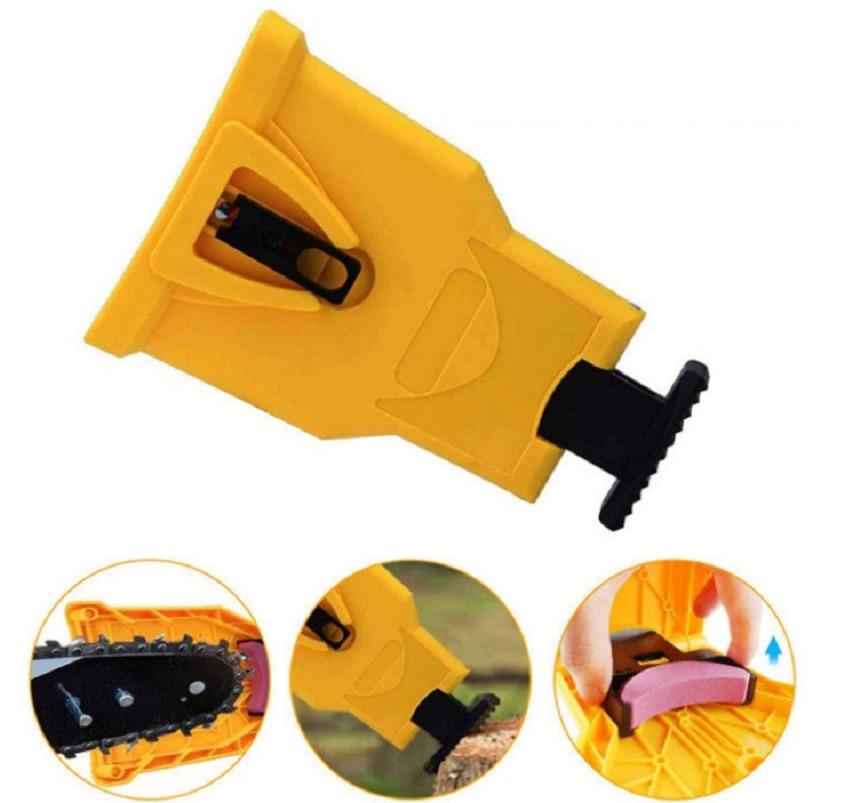 Chainsaw Chain Teeth Sharpener Portable Durable Easy Power Sharp Bar-Mount Fast Grinding Chainsaw Chain Sharpener Grinder Tool