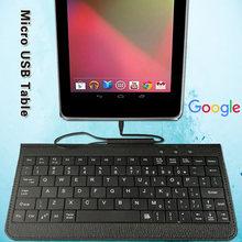 Портативная Проводная клавиатура подходит для google nexus 7