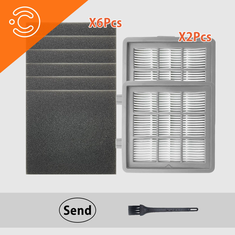 robot Vacuum cleaner Dust Cleaning Cotton Filters Kit For LEXY VC-T3515E-1 (T51) VC-T3311E Filtration For Home Appliance Parts