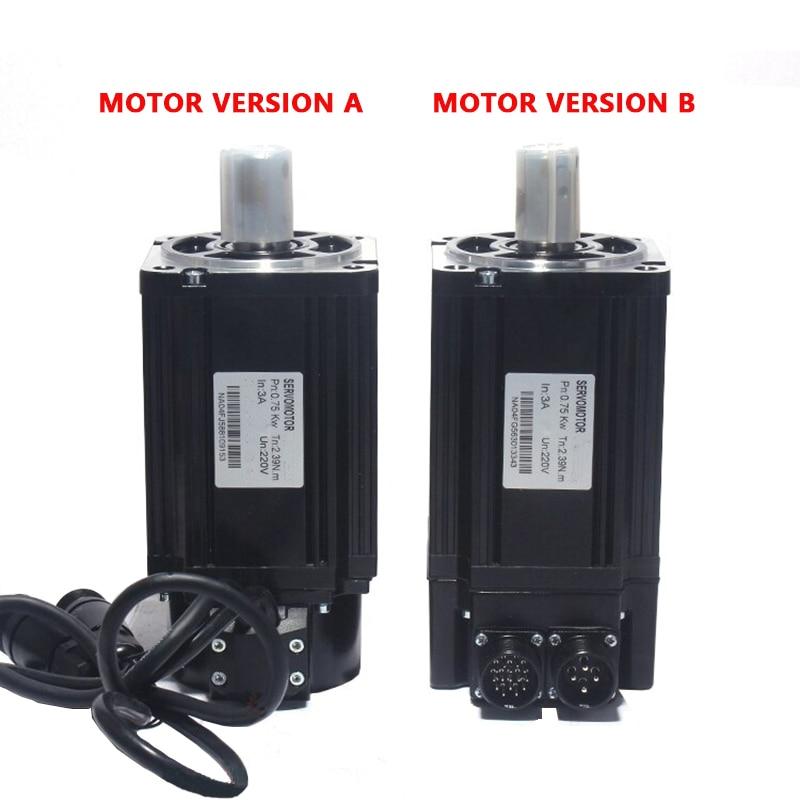 Image 3 - With Modbus 220V 750W 90ST M02430 AC Servo motor 3000RPM 2.4 N.M servomotor Single Phase ac drive permanent magnet Matched DriveAC Motor   -