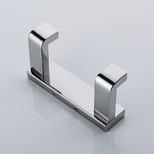 Image 5 - SUS 304 Towel Hook Double Robe Hook Stainless Steel Chrome Finish Wall Hanger for Towel Bathroom Robe Free Shipping