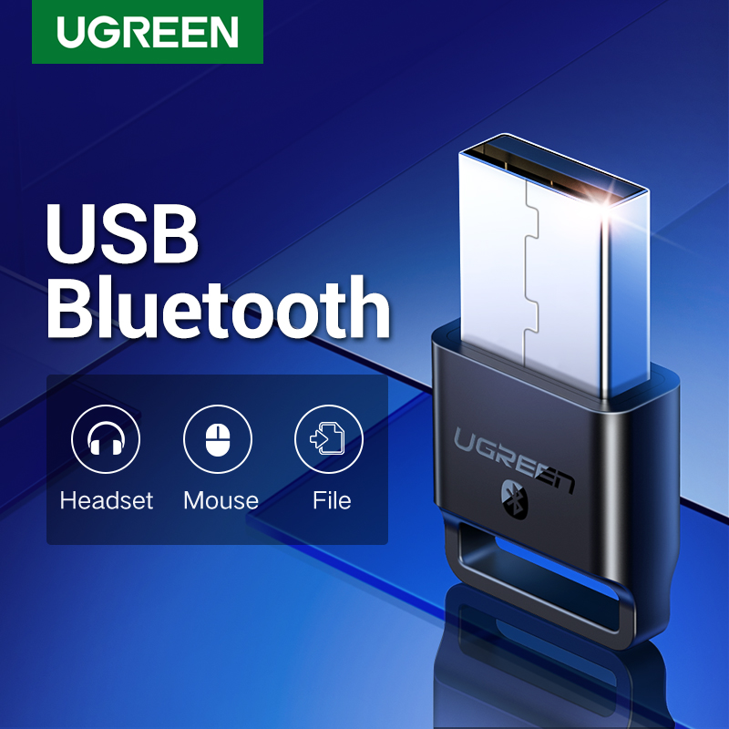 Ugreen USB Bluetooth 4.0 Adapter Wireless Dongle Stereo Receiver for PC Win 10,8