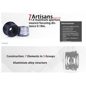 Image 3 - 7 rzemieślników 25mm F1.8 ręczne ustawianie ostrości obiektyw do sony E A5000 A5100 A6300 A6500 dla Canon EOS M dla fuji fx dla Olympus M4/3