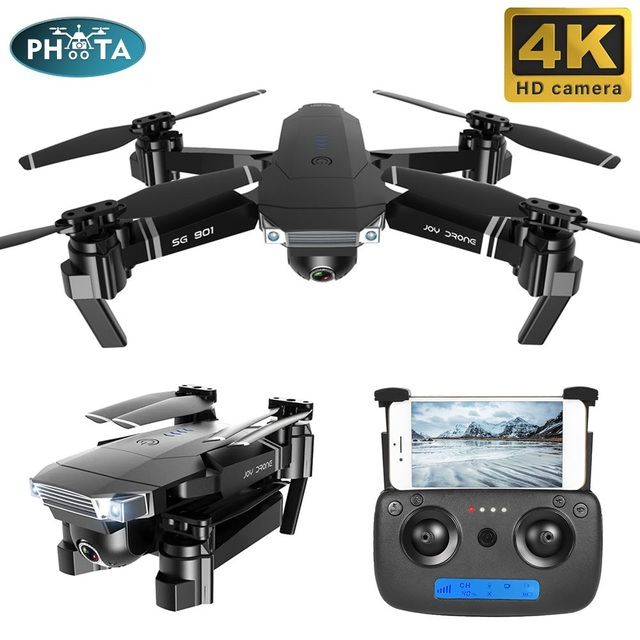 2019 SG901 DRONE 4K 1080P HD Camera Kép Theo Tôi RC Quadrocopter 50x Zoom Wifi FPV Drone với gậy Chụp ảnh Selfie Dron Tặng Cho Bé