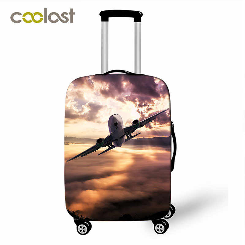 fashion car / airplane print luggage cover for travelling anti-dust suitcase protective covers baggage trolley case cover