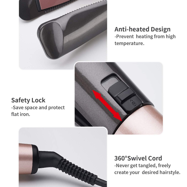 2-в-1 прямые и локон волос инфракрасный Керамика ионной Электрический волна волос стайлер LDE Дисплей пять температуры нагрева прическа инструмент