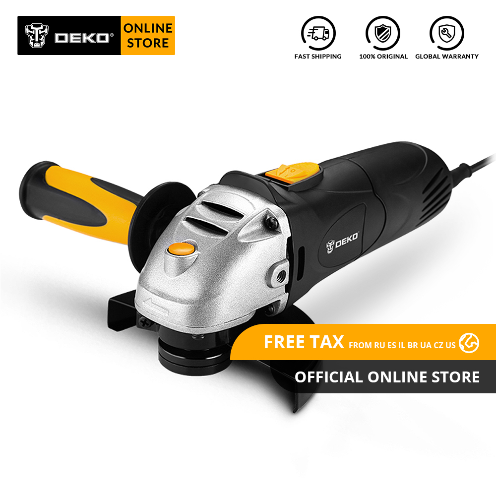 DEKO DKAG25LD1/2 Angle Grinder Cutting And Grinding Machine Polisher For Home DIY Metal Wood Abrasive Processing Variable Speed
